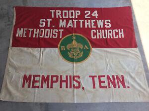 Boy Scouts of America Troop 24 Flag Memphis Tennessee St. Matthews Methodist