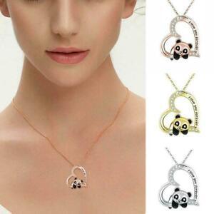 Elegant Panda Necklace Pendant Earrings Women Girls Jewelry Fashion T4R6