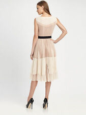 $298 BCBG Max Azria Powder Combo Pleated Cocktail Dress SZ 0 XXS 2 4 6 XS Small