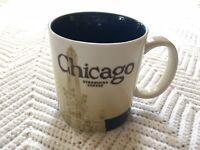 Starbucks City Series CHICAGO 2011 Coffee Mug Cup Collector Edition 16oz EUC