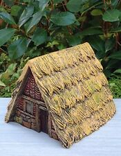 Miniature Dollhouse FAIRY GARDEN ~ VIKING Village Stone Look Thatched Roof House