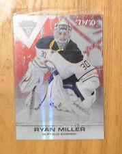 Ryan Miller 2011-12 Panini Titanium Ruby Parallel Card #D 71/99