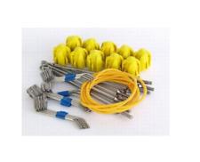 GEMINI Tackle NUOVO kit di montaggio lunga Grip Giallo Lunga Coda di fili