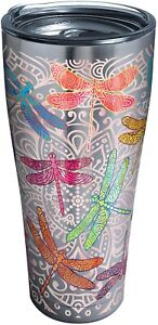 Tervis Dragonfly Mandala Stainless Steel Tumbler with Clear 30oz, Silver || New