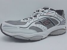 SKECHERS TONE UP MENS KENETIC CORE WHITE SILVER RUNNING SHOES 51500 SIZE 11