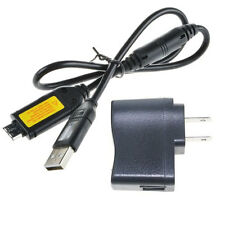 IN-Camera USB AC Battery Power Charger Adapter for Samsung ST61 ST65 ST70 PL120