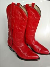 Los Altos Boots (Anteater) Red Leather Women's Shoes Size 6 M