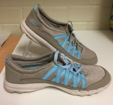Womens SKECHERS On the Go Beige & Blue Casual Walking Comfort Shoes Size 8