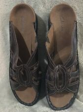 Clarks 12m Leather Sandals. Brown. Never Worn