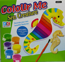 New Colour Me Set Decorate your own beautiful Wooden Seahorse Gift Christmas