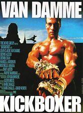 KICKBOXER Movie Poster Van Damme RARE