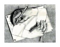 M.C. Escher Hand Drawing Hand DIGITAL Counted Cross Stitch Pattern Needlepoint