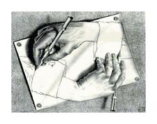 M.C. Escher Hand Drawing Hand DIGITAL Counted Cross Stitch Pattern Needlepoint
