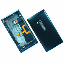100% Original Nokia Lumia 900 Carcasa Trasera + Cámara De Vidrio + botones Laterales Trasero Negro