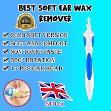 Ear Wax Cleaner Smart Removal 16+1 Soft Spiral Swab Tool Safe Earwax Remover
