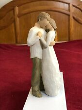 """Willow Tree """"Promise"""" Embracing Couple 2011- Susan Lordi, hand-painted resin"""