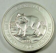 2014 Canada / Canadian $8 Arctic Fox 1.5 oz .999 Fine Silver Coin