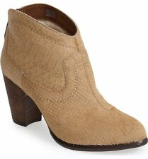 UGG Australia Charlotte Snake Embossed Calf Hair Leather Zip Ankle Boots 7 $194
