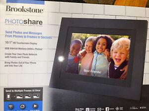 Brookstone 10.1 DIGITAL PHOTO FRAME  PhotoShare Touchscreen Smart Frame W/ Wi-Fi