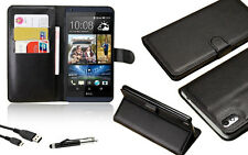 Leather Stand Wallet Flip Case Cover For HTC Desire 816