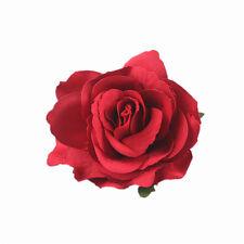 Big Blooming Rose Flower Wedding Bridal Hair Clip headpiece Brooch Pin CEP