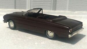 Rare Metallic Burgundy 1963 Ford Falcon Convertible AMT Promo Car Promotional