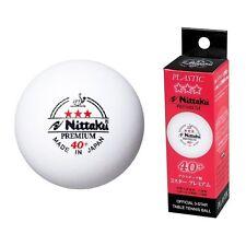 Nittaku 3-Star PREMIUM 40+ Table Tennis Balls Plastic Ball