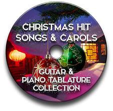 CHRISTMAS HIT SONGS & CAROLS GUITAR & KEYBOARD TABS TABLATURE SOFTWARE CD