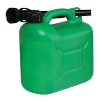 Silverline 847074 Plastic Fuel Can 5Ltr Green