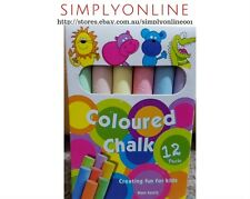 Non Toxic Chalk 12 Coloured Sticks - Make Fun for kids - Free Shipping -