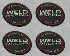 "4 PCS WELD RACING WHEEL EMBLEM RIM CENTER CAP STICKER DECAL 601-3005 2.5"" DIA"