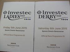 EPSOM 2015 DERBY & OAKS RACECARDS  - GOLDEN HORN & QUALIFY