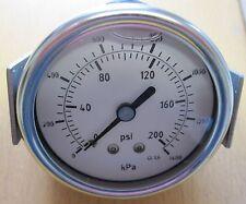 63 Mm 200psi/1400 Kp de montaje del panel Glicerina llena calibrador de presión 1/4bsp