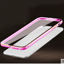 Aluminum Metal  Bumper Frame Back Clear Case Cover SKin for iPhone 5s 6 6S Plus