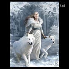 *WINTER GUARDIANS* Goth Fantasy Wolf Art 3D Print By Anne Stokes (39.5x29.5cm)