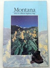 Vintage 1993 Montana Official Highway Map