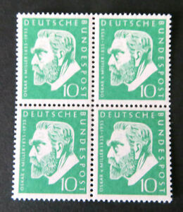 Miller 1955, Mi.Nr. 209, postfrischer 4er-Block (P1860)