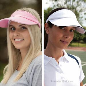 Sun Visor Adjustable Sports Hat Tennis Golf Headband Cap Ladies Women Sun Vizor