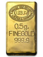 IGR Istanbul Gold Refinery 0.5g Gold Bar INVESTMENT GIFT - FAST U.K. DELIVERY