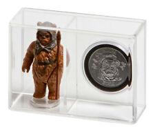 """GW Acrylic Display Case Loose Figure Coin Vintage Star Wars (Small 3 3/4"""")"""