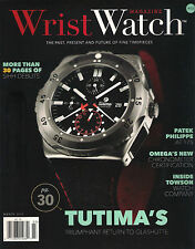 NEW! WRIST WATCH Issue 12 March 2015 TUTIMA Glashutte Patek Philippe Towson