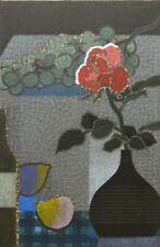 TORU MABUCHI (JAPAN, 1920-1994) SIGNED STILL LIFE COLOR WOODBLOCK PRINT, #7/150
