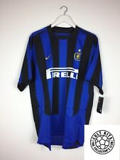 INTER MILAN 03/04 BNWT *PLAYER ISSUE* Home Football Shirt (XL) Soccer Jersey