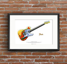 Jimmy Page's 1959 Fender Telecaster ART POSTER A2 size