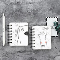 Cute Animal Kraft Paper Spiral Coil Students Notebook Journal Diary Lovel.FN
