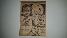 Joe Louis Boxing Max Schmeling Jim Braddock 1937 Cartoon Sketch  by Art Krenz