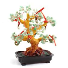"Feng Shui Gem Stone 11"" Money Tree Home Decor Wealth Blessing Gift Random Color"