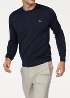 Lacoste Pullover R Knit Herren Strickpullover Rundhals Baumwolle Marine Blau