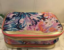 Nwt Lilly Pulitzer Gwp Cosmetic Case Bag Travel Off Tropic Accessories lilac