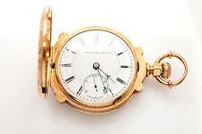 Antique 1800s RARE MASONIC Elgin SCALLOP THICK 18k Gold 18S Pocketwatch 165g